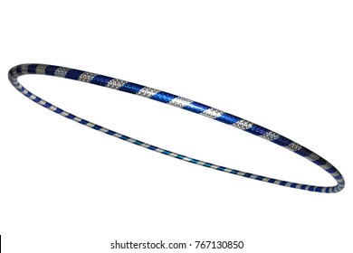 The hula Hoop silver with blue