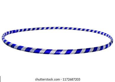 The hula Hoop silver with blue isolated on white background