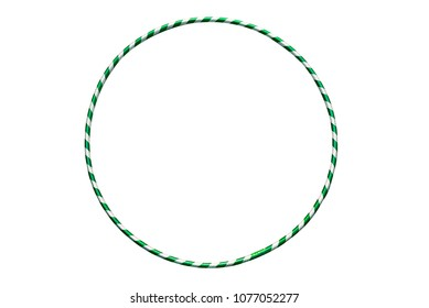 The hula Hoop silver with green closeup