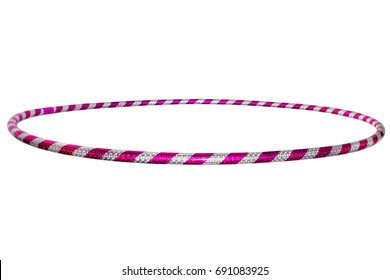 The hula Hoop silver with purple isolated on white background