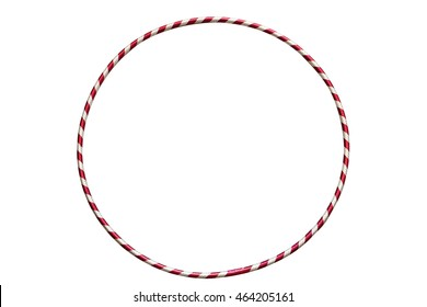 The hula Hoop silver with red, isolated on white background. Gymnastics, fitness,diet.