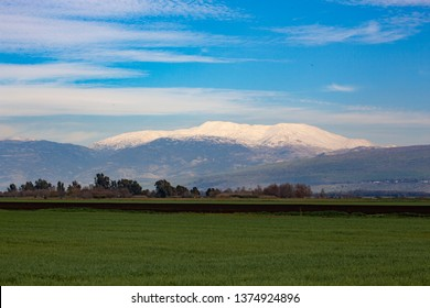 Hula Valley and Mount Hermon, Northern Israel