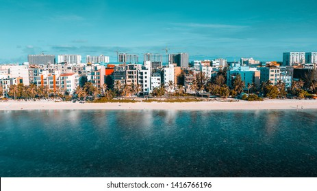 Hulhumale - Maldives , Aerial view from side