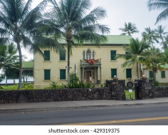 Hulihee Palace is located in historic Kailua-Kona, Hawaii, on Alii Drive. The former vacation home of Hawaiian royalty, it was converted to a museum.