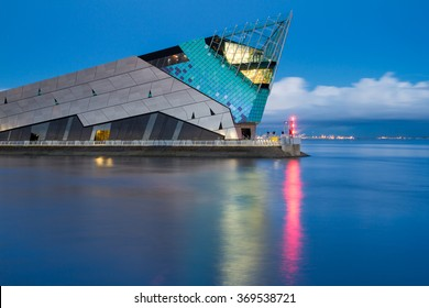 HULL, ENGLAND - MARCH 13: The Deep is a public aquarium situated at Sammy's Point, at the confluence of the River Hull and the Humber estuary on March 13 2013 in Hull, England.