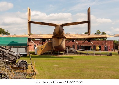 HULL, YORKSHIRE, UNITED KINGDOM - JUNE 13, 2018: Exhibited at Fort Paull Museum, A Blackburn Beverley transport aircraft, which had been in service with the Royal Air Force.