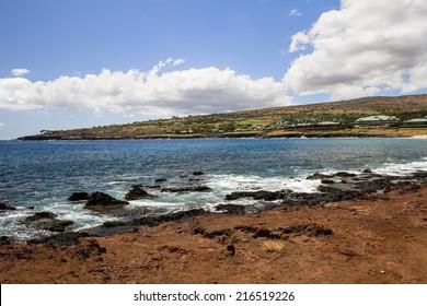 Hulopoe Bay on the island of Lanai in Hawaii