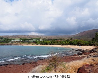 Hulopoe beach park in manele on the island of Lanai, Hawaii.