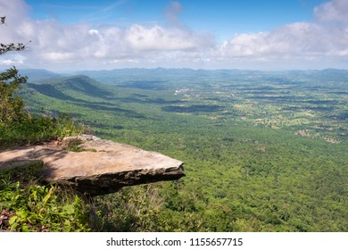 Hum Hod Cliff in Sai-Thong National Park, Chaiyaphum Thailand