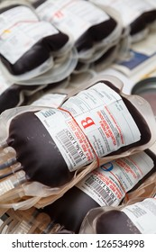 Human blood in blood donation