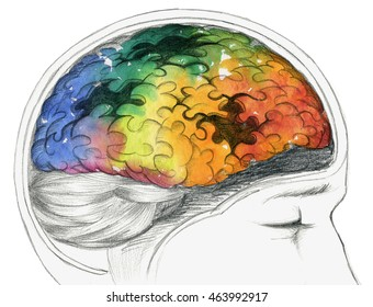 Human brain with Alzheimer's disease or other cerebral problem.