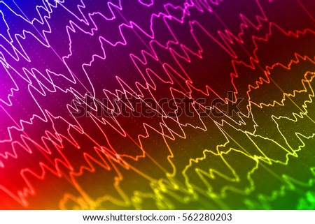 Human brain wave on electroencephalogram, EEG for epilepsy
