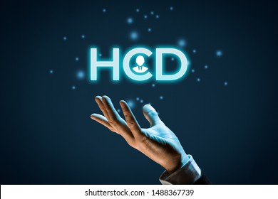Human Centered Design (HCD) concept. Designer or marketing specialist give you HCD solution.