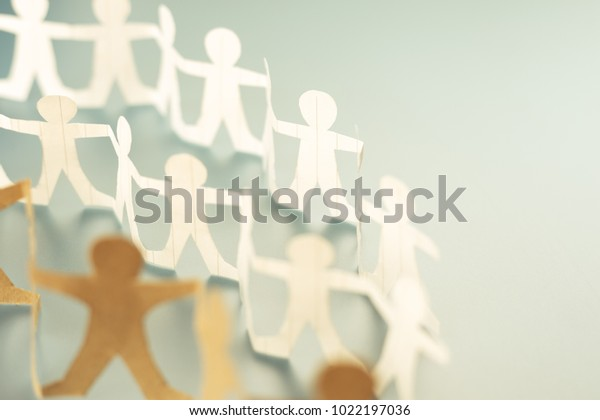 Human chain paper as a crowd or community concept