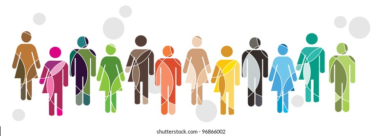 A human diversity concept illustration