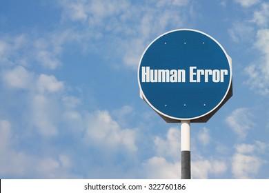 Human Error Sign