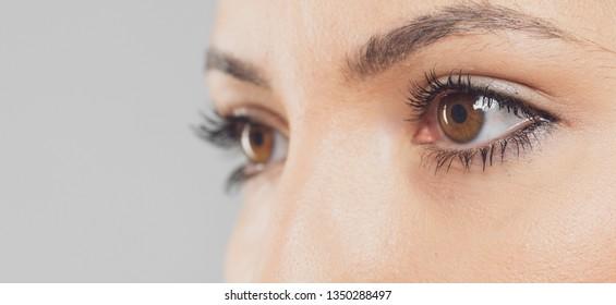 human eye closeup detail shot