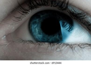 Human eye. Macro shot. Dream colors