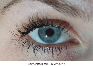 human eye from very close macro