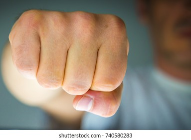Human fists expressing power, violence, freedom, strength, resistance