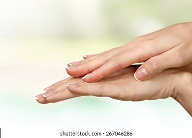 Human Hand, Fingernail, Women.