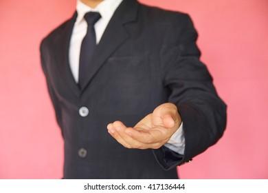 human hand holding