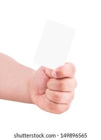 human hand isolated