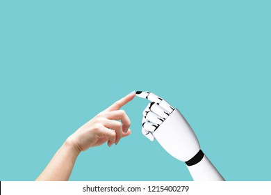 Human hand and robot hand system concept Integration and coordination of intellectual technology and vintage