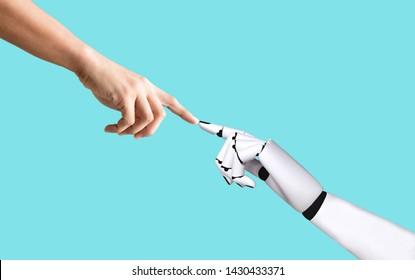 Integration und Koordinierung der künstlichen Intelligenztechnologie in die Hand von Menschen und Robotern