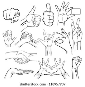Human Hand Sign collection