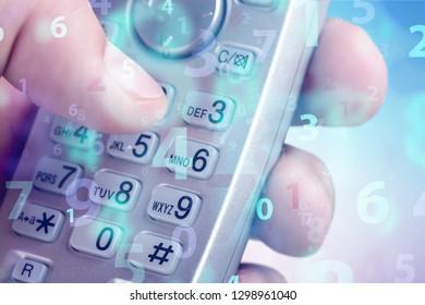 Human hand with Telephone