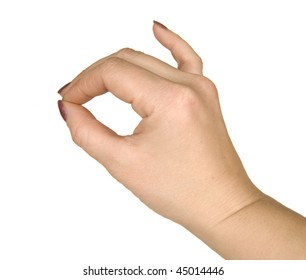 human hands demonstrating sign language