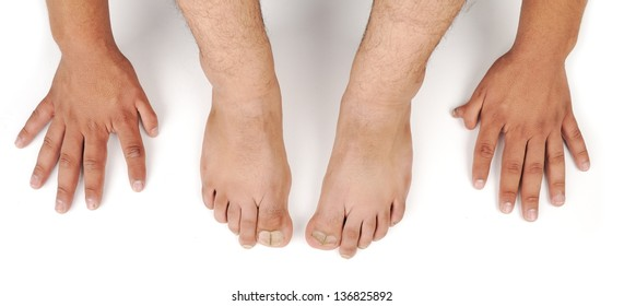 human hands and foot
