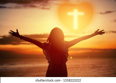 Human hands open palm up worship. Eucharist Therapy Bless God Helping Repent Catholic Easter Lent Mind Pray. Christian Religion concept background. fighting and victory for god