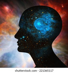 human head, space of Elements of this image furnished by NASA