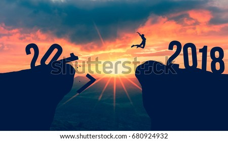 Human Jumping from 2018 to 2019, Happy New year
