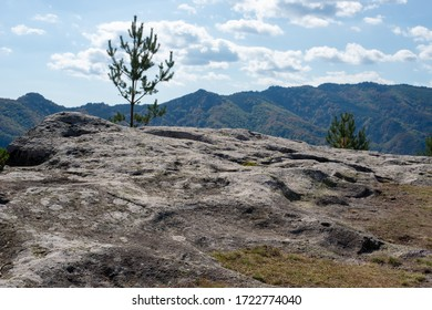 Human made cuts in the stone at Belintash - an ancient sacred place at the heart of the magical Rhodopes mountain.