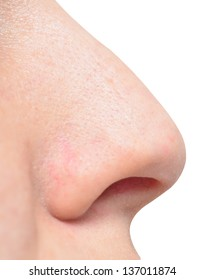 human nose isolated on white