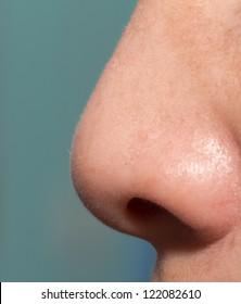 Human nose macro shot
