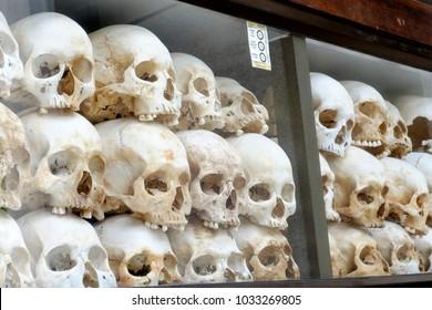 Human remains at Cheung Ek killing fields