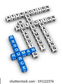 human resource cubes crossword puzzle