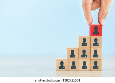 Human resource management and recruitment business concept, Business Strategy to succeed in today's highly active business practices.