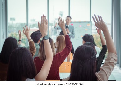 Human Resources Concept. Business Corporate People Success- Organization, Recruitment, Corporate Meeting, Conferences, Event Training . Asian Business Team.