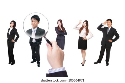 Human Resources concept, choosing the perfect candidate for the job, model are asian people
