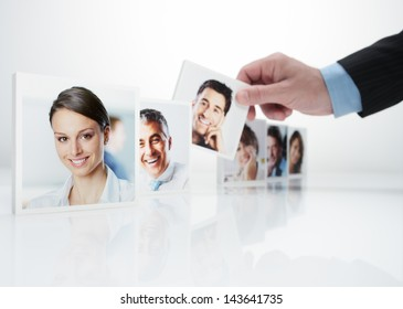 Human Resources concept, Portraits of a group of business people