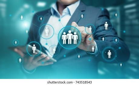 Human Resources HR management Recruitment Employment Headhunting Concept. - Shutterstock ID 743518543