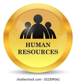 Human Resources icon. Internet button on white background.