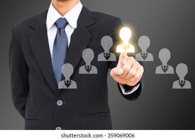 Human resources management select employee.