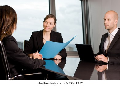 Human resources team choosing a new employee