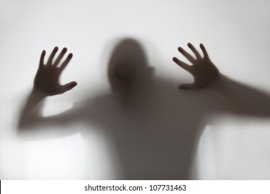A human shadow